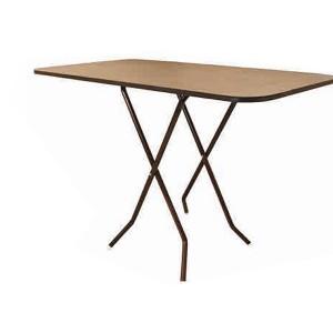 Mesa Plegable 0.60 x 1.20mts (Cafe)